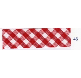Biais vichy rouge46