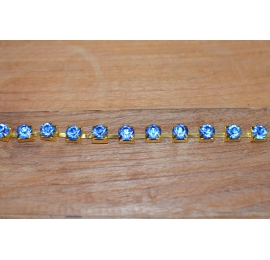 Chaine strass cristal bleu nuit 8mm