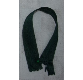 Fermeture invisible 22 cm vert bouteille