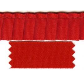 Ruban plissé rouge