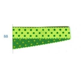 Galon pois vert-vert 10 mm