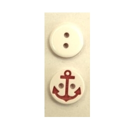 Bonton Ancre Marine blanc-rouge