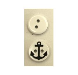 Bonton Ancre Marine blanc-marine