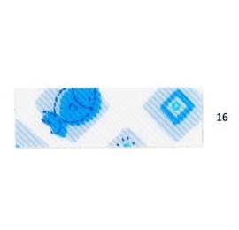 Biais imprimé 7500-16 petits poissons bleus