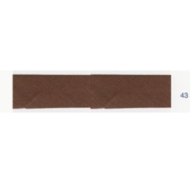 Biais unis stretch elastique marron