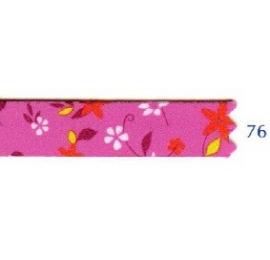 Galon fleurs 10 mm fuschia 76