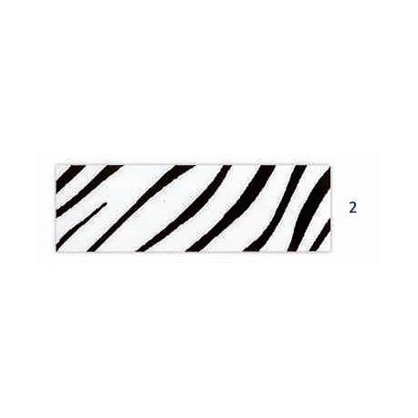 Biais imprimé tigré blanc