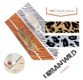 Biais imprimé léopard écru