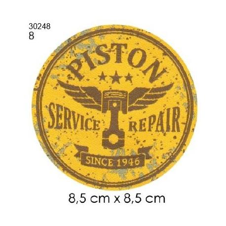 Ecusson automobile 8 piston rond