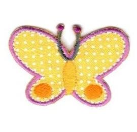 Ecusson papillon jaune
