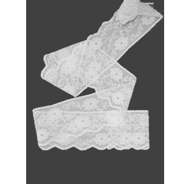 Dentelle nylon 55 mm blanche
