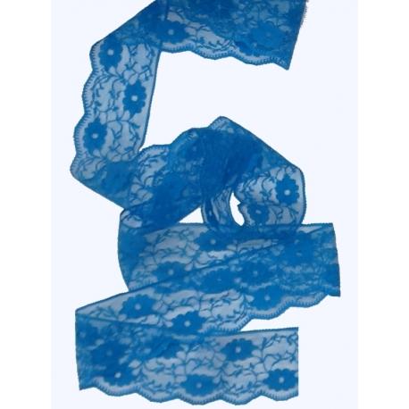 Dentelle nylon 55 mm Bleu roy