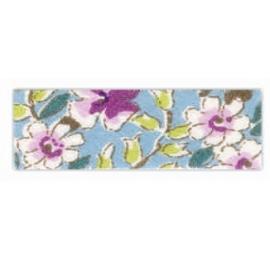 Biais motif à fleurs 1930 bleu