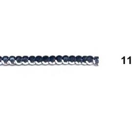 Ruban paillettes rondes gris 11