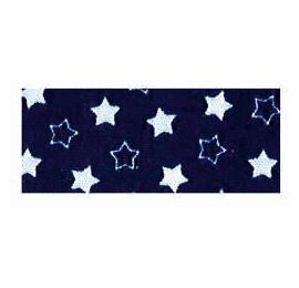 Biais imprimé 7703 étoile Bleu Marine