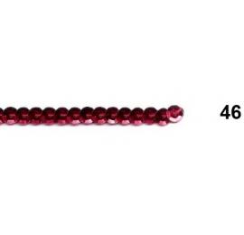 Ruban paillettes rondes rouge 46