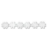 Guipure fleurs blanc