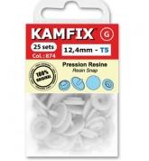 Boutons pressions 12,4mm Kamfix Blanc