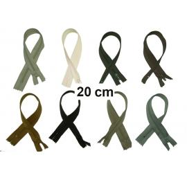 Fermeture 20cm : les beiges et marrons pour jupes et pantalons