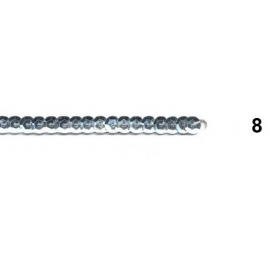 Ruban paillettes rondes gris 8