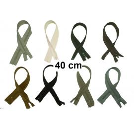 Fermeture 40cm : les gris et noir pour jupes et pantalons