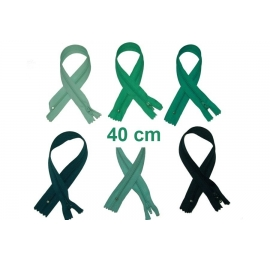 Fermeture 40cm : les verts et kakis pour jupes et pantalons