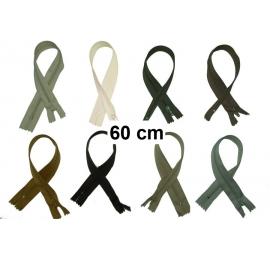 Fermeture robe 60cm : les beiges et marrons