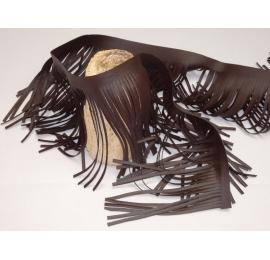 Longues franges western de 15cm marron