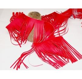 Longues franges western de 15cm rouge