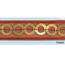 Galon anneaux camel