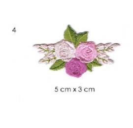écussons petites fleurs brodées 4