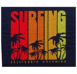 écussons surf surfing rectangulaire
