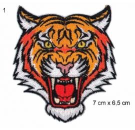 Ecusson tigre rugissant