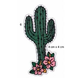Ecusson cactus en fleur