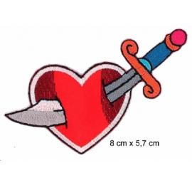 Ecusson sabre au coeur