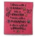 écussons dessin unicorn fond rose