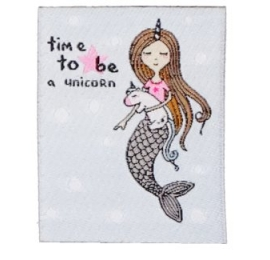 écussons dessin siréne time to be unicorn