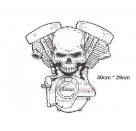 écussons Motorcycle Tête de mort Moteur