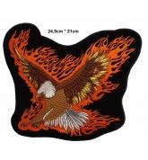 écussons Motorcycle Aigle dans les flammes