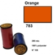 Fil goldmann 200m 100% polyester 783 orange