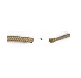 Lacets de sport rond de 90 à 150 cm beige