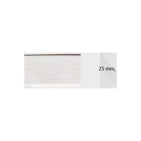Elastique souple plat 25 mm blanc