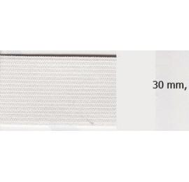 Elastique souple plat 30 mm blanc