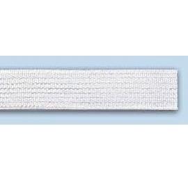 Elastique souple plat 10 mm blanc