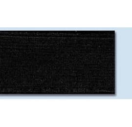 Elastique souple plat 25 mm noir