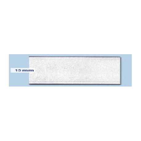 Elastique plat rigide 15 mm blanc