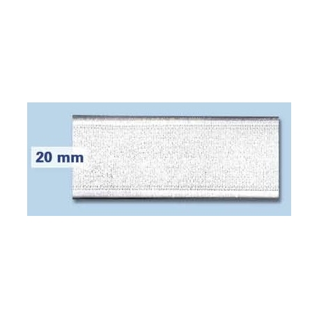 Elastique plat rigide 20 mm blanc