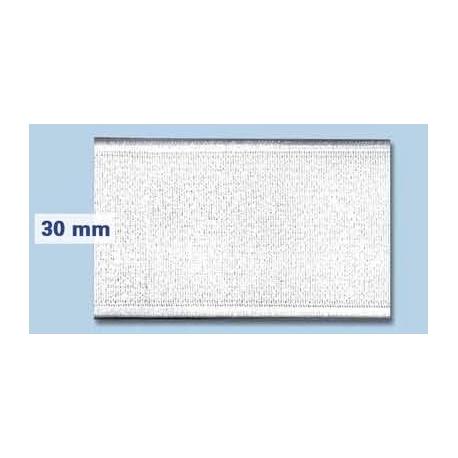 Elastique plat rigide 30 mm blanc