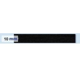 Elastique plat rigide 10 mm noir