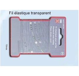 Fil élastique transparent